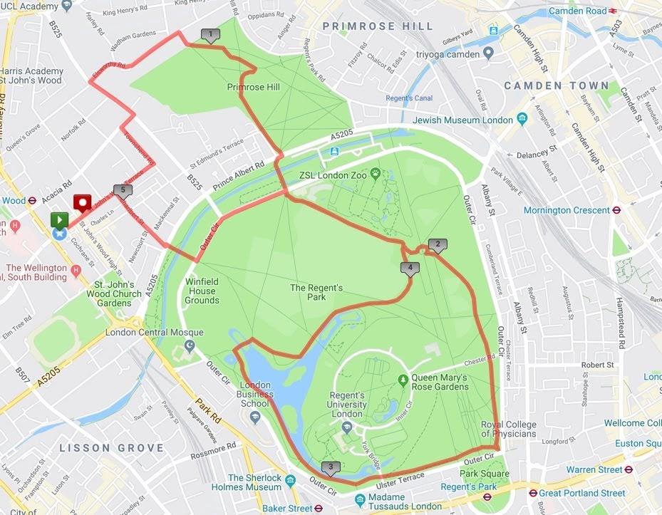 Primrose Hill/Regents Park